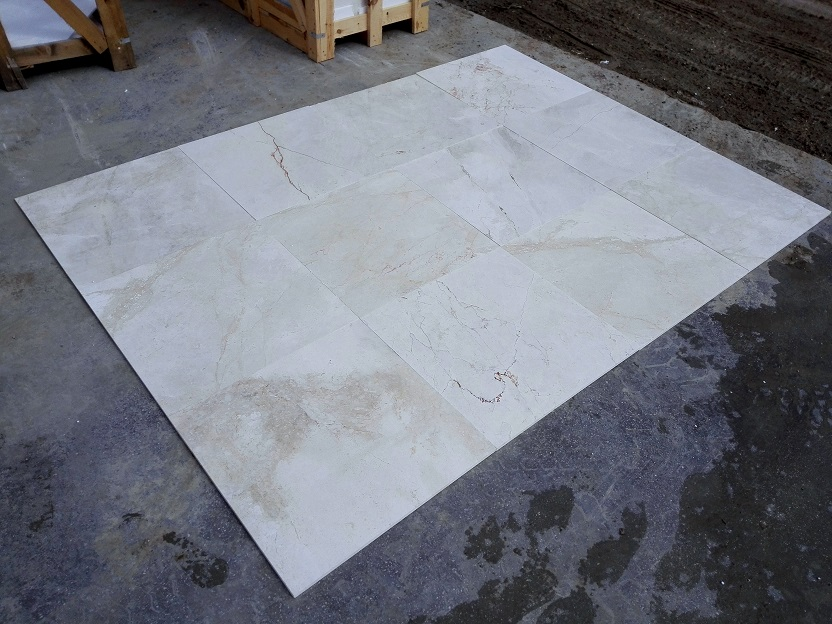 1.2cm x 24 x 24 Crema Latte Polished Marble 2