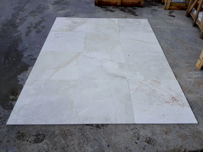 1.2cm x 24 x 24 Crema Latte Polished Marble 1