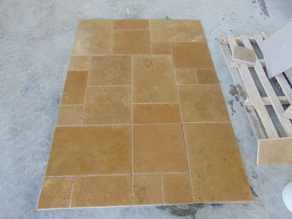 Noce Brushed&Chiseled Travertine