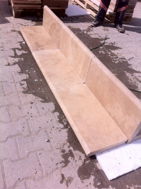 2x12x24 Ivory Ligh Tumbled Pool Coping Premium 1