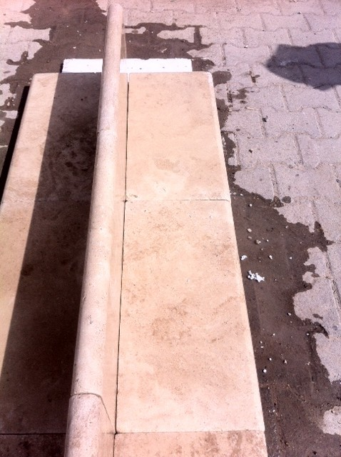 2x12x24 Ivory Ligh Tumbled Pool Coping Premium 2