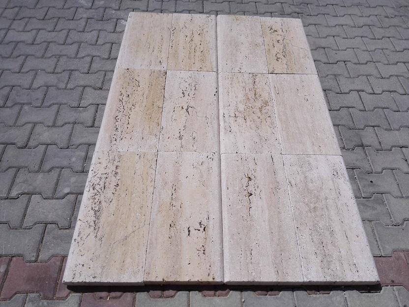 2x12x24 Sahara Desert VeinCut Tumbled Travertine Pool Coping Premium 3