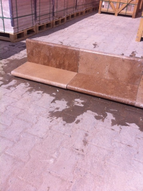 2x12x24 Walnut Tumbled Pool Coping Premium 1