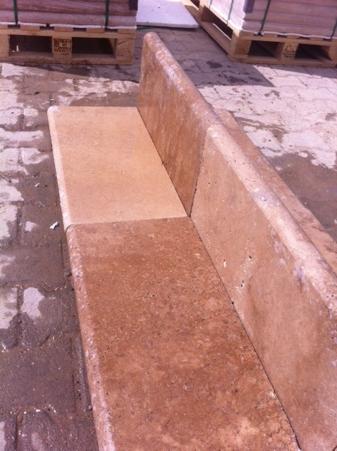 2x12x24 Walnut Tumbled Pool Coping Premium 2