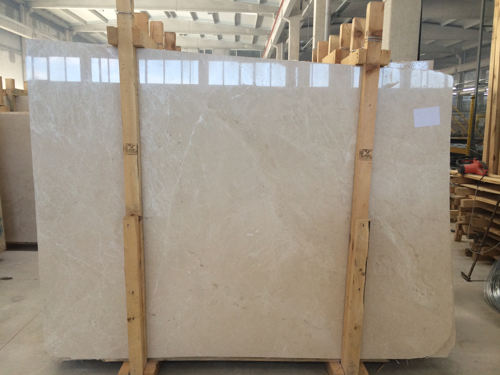 Burdur Cream Beige Polished Marble Slab