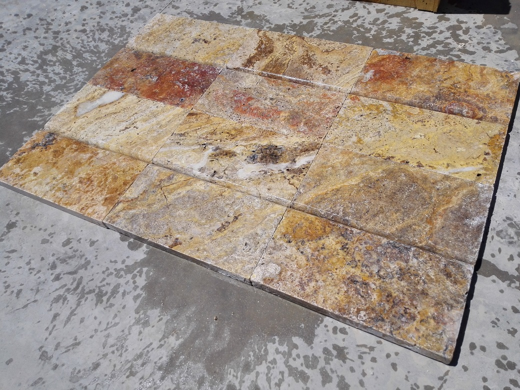 Scabos Travertine Eased Pool Copings 5
