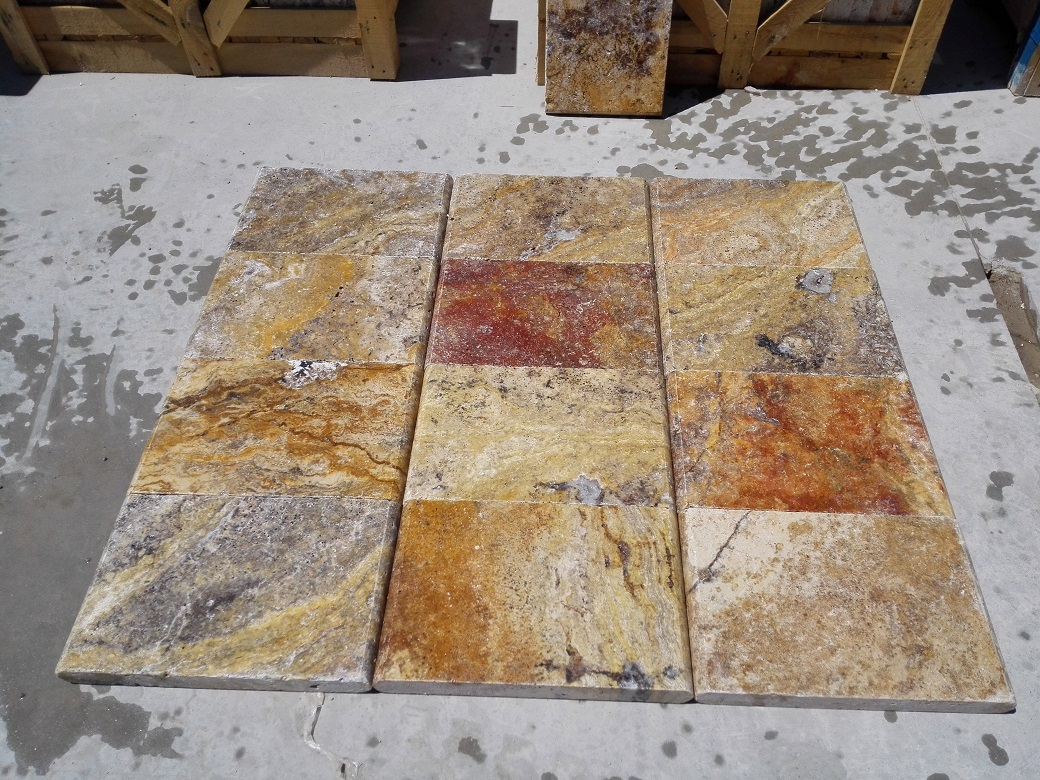 Scabos Travertine Eased Pool Copings 4