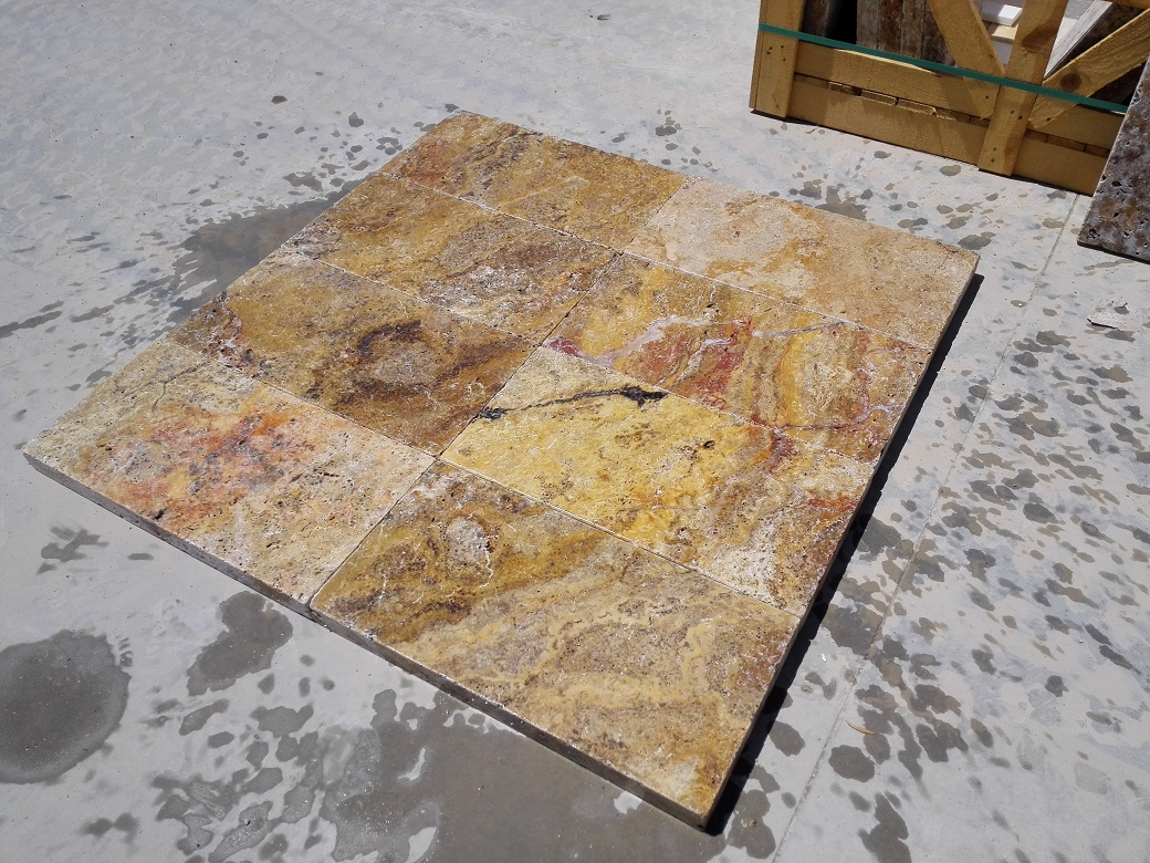 Scabos Travertine Eased Pool Copings 3