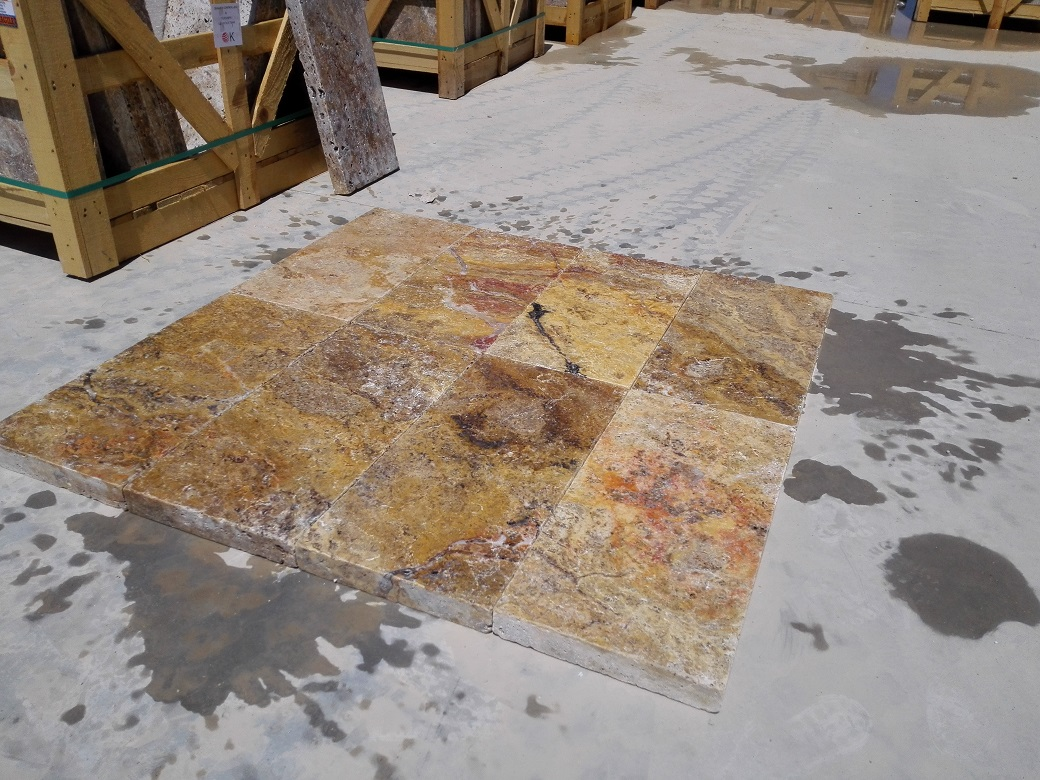 Scabos Travertine Eased Pool Copings 2