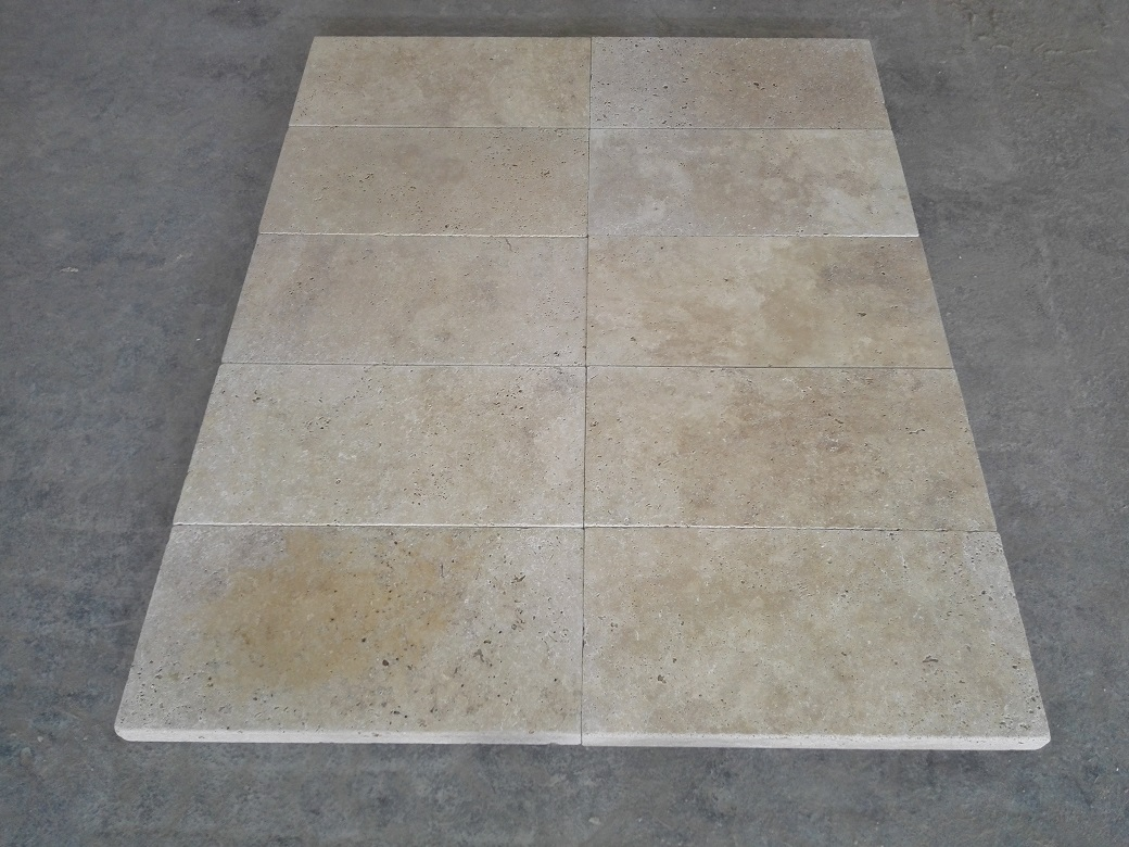 Light Walnut Travertine Eased Pool Copings 4