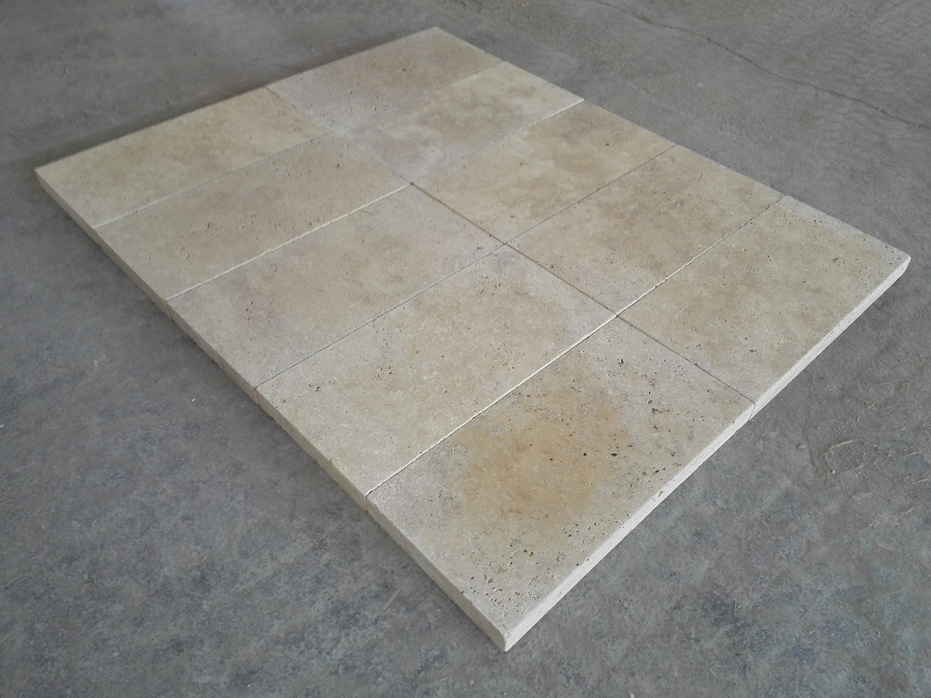 Light Walnut Travertine Eased Pool Copings 3