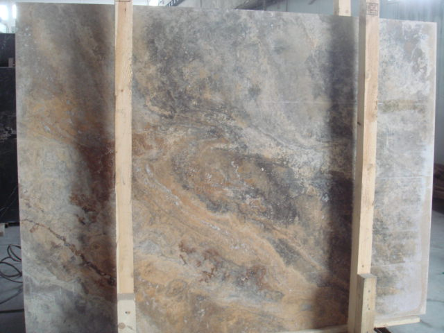 Scabos Travertine Cross Cut Slab