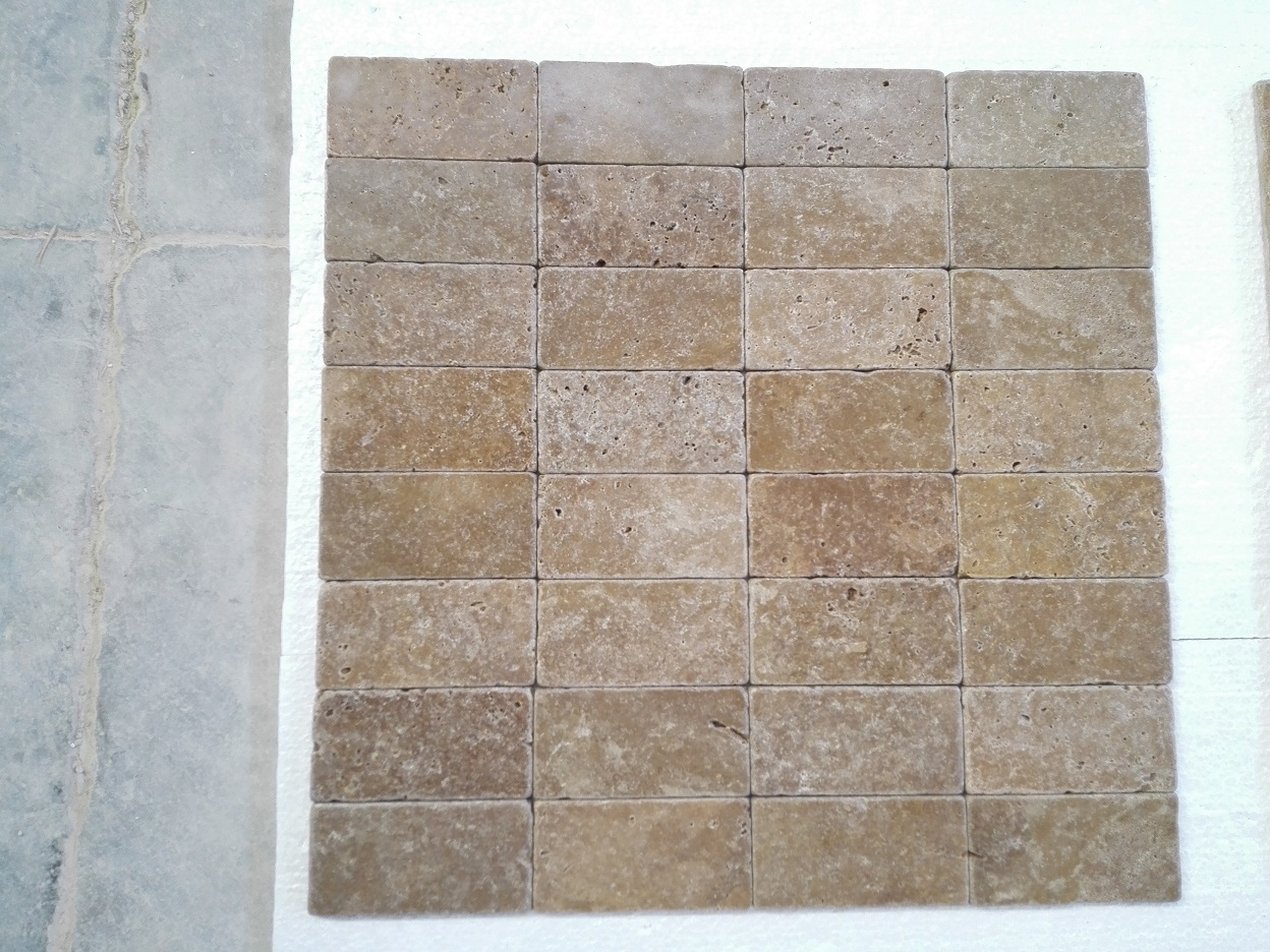 3x6 Noce Tumbled Travertine Premium