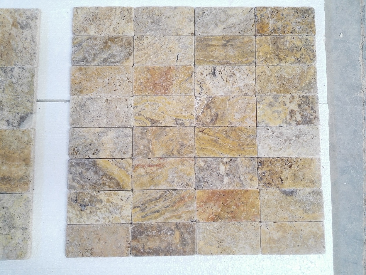 3x6 Scabos Travertine Tumbled Premium