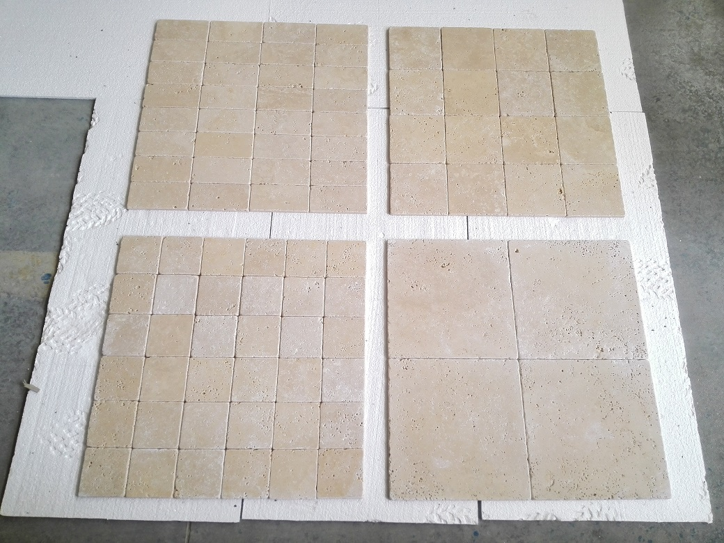 Ivory Light Travertine Tumbled Collection Premium 1