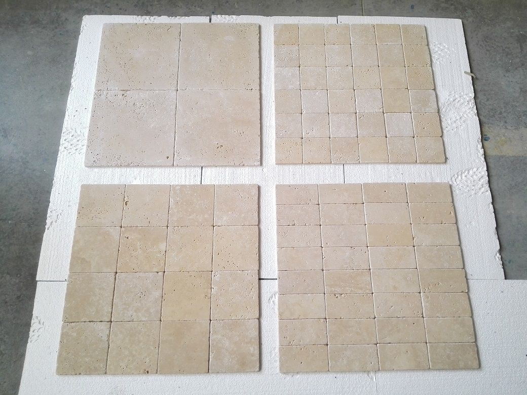 Ivory Light Travertine Tumbled Collection Premium 2