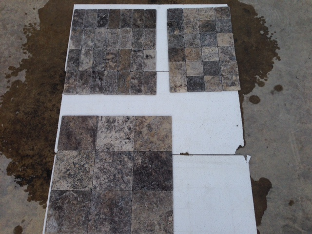 Silver Travertine Tumbled Premium